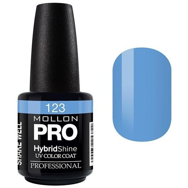 Semi-Permanent Varnish Hybrid Shine Mollon Pro 15ml Royal Blue - 123