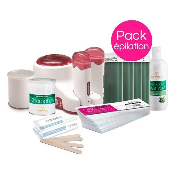 Pack Epilation Peaux Sensibles Xanitalia Pot et Roll'On
