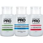Mollon Pro Kit de 3 botellas deshidratador, acabado más limpio, removedor UV