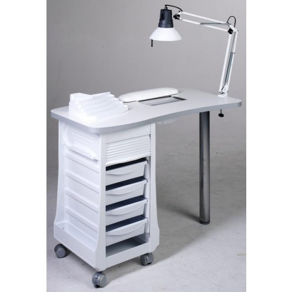 Manicure table with vacuum cleaner + accessories