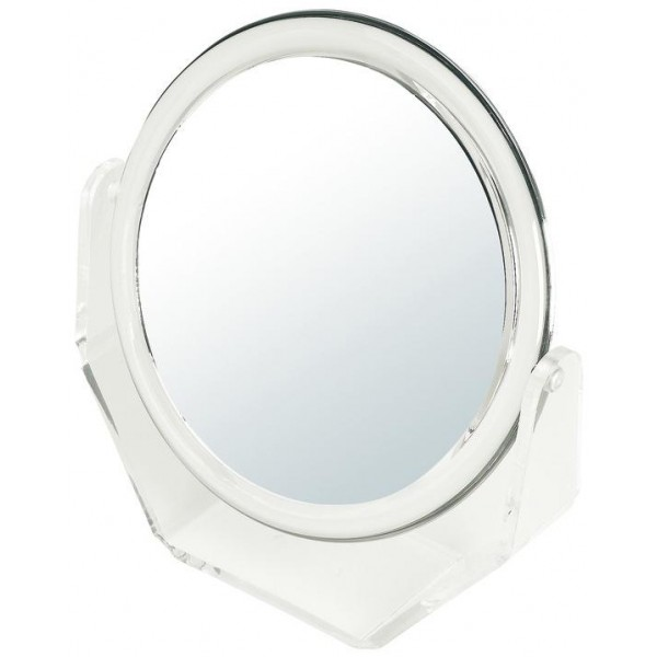 Specchio double face da trucco ingrandente x 5 - Grande modello