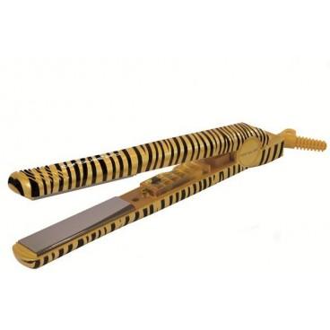 Image of Piastra lisciacapelli Corioliss di titanio City Style - gold zebra