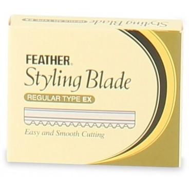 Paquete de 10 cuchillas pluma Styling blade