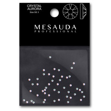 Crystals for nail CRYSTAL CLEAR SS3 50 pieces