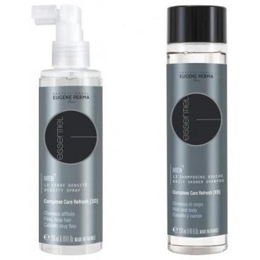 Pack Spray Densité Essentiel Homme Cheveux Affinés 200 ML + Shampooing Douche Essentiel Corps & Cheveux 250 ML