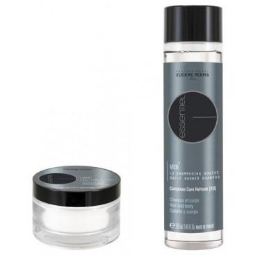 Pack Le savon à Barbe Essentiel 130 Gr + Shampooing Douche Essentiel Corps & Cheveux 250 ML