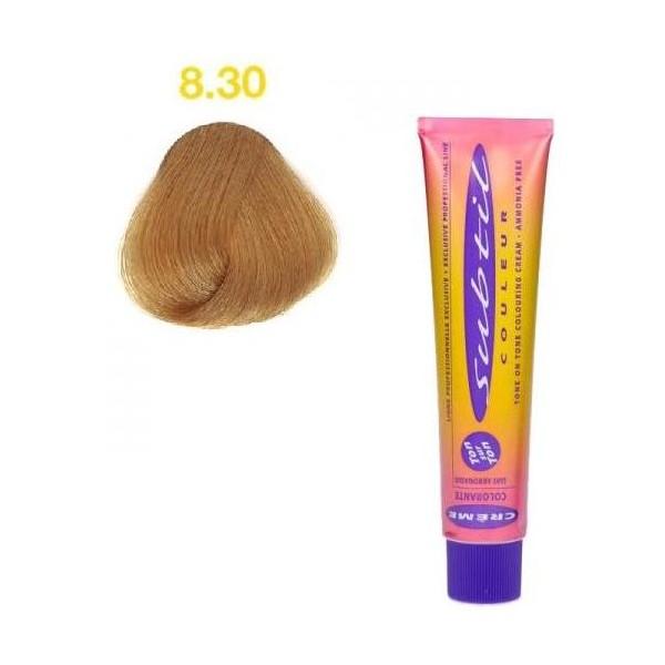 Subtle Ton / Ton Cream N ° 8.30 Light Intense Golden Blonde 60 ML