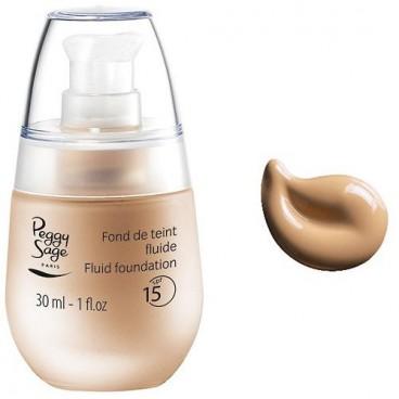 Background sand beige liquid foundation