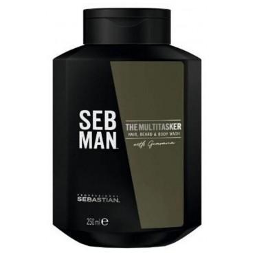 Gel limpiador para el cuerpo, cabello y barba El multitarea Sebman 250ML