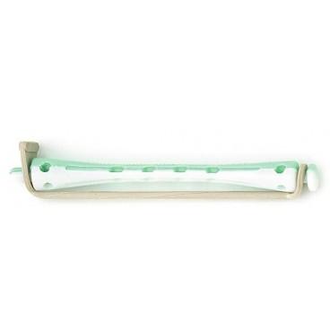 Bigoudis Permanente Vert/Blanc Longs