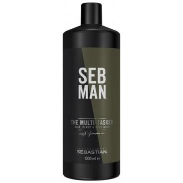 Gel nettoyant corps, cheveux et barbe The Multi-Tasker Sebman 1000ML