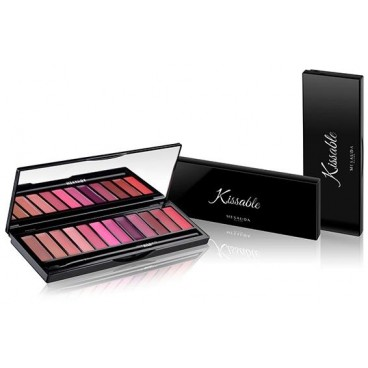 KISSABLE Palette Matte rouges à lèvres 12x 0,8 g