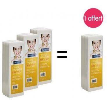 Pack 4 paquets Bandes pour épilation X 250 Non tissées 1 offert