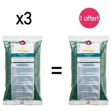4 sachets Cire Pelable Vert Chlorophylle Pastilles Xanitalia 1000 Grs 1 offert