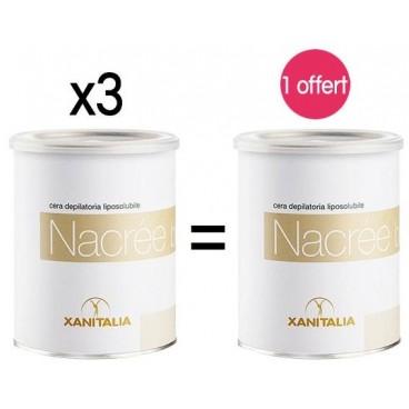 4 pots Cire Jetable Liposoluble Nacrée Xanitalia 800ml 1 offert