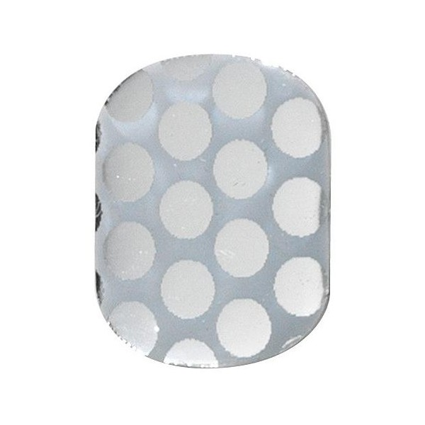 Gel stickers utimate nails silver dots Peggy Sage