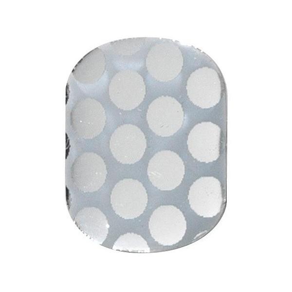 Unghie in gel adesivi utimate puntini d'argento Peggy Sage
