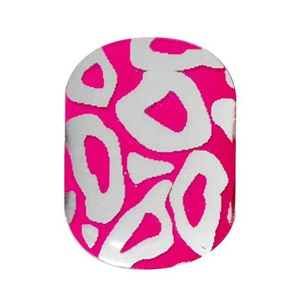 Las uñas de gel de color rosa pegatinas leopardo utimate Peggy Sage