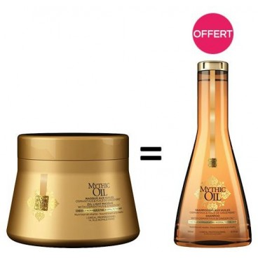 Pack Mythic Oil Masque cheveux fins + 1 Shampooing cheveux fins Offert