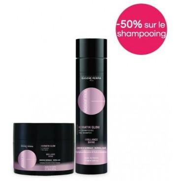 Pack Essentiel Kératin Glow -50% sur le shampooing