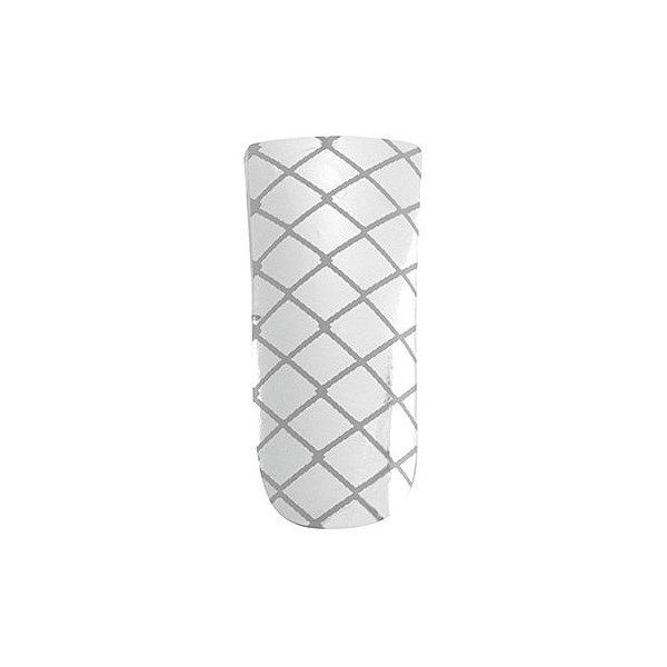 Peggy Sage Ultimate nails silver criss cross
