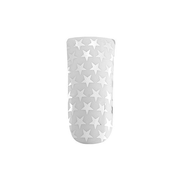 Peggy Sage Ultimate nails white & silver stars Peggy Sage