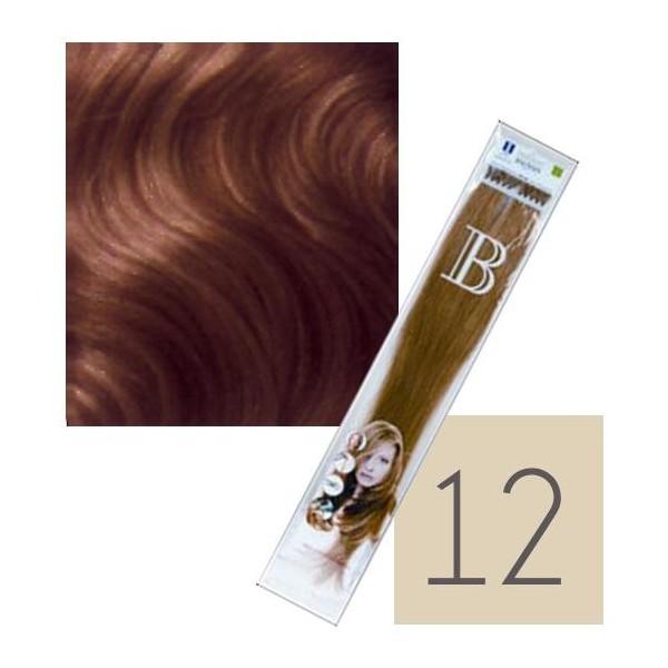 Confezione da 10 extension cheratina Balmain - N° 12 - 45 cm