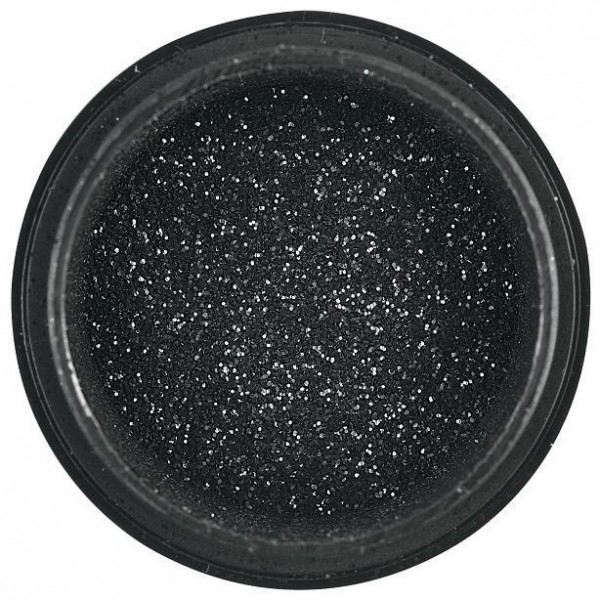 Puder-Nagel-Kunst-Sensation Black Sequin-Effekt Beautynails