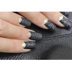 Poudre Nail Art Sensation Effet Sequin Noir Beautynails