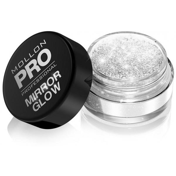 Espejo Glow Mollon Pro 100 polvos de plata del espejo del resplandor