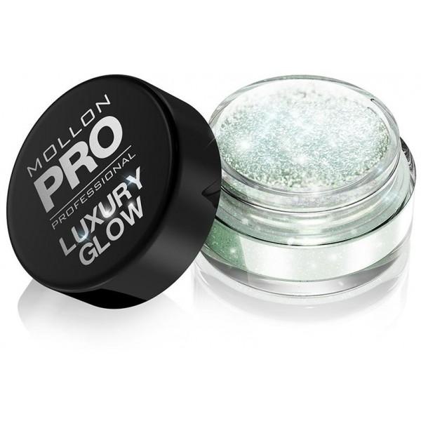 polvos de lujo Glow Mollon Pro 102 verde esmeralda