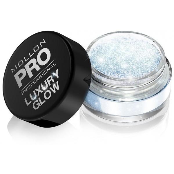 polvos de lujo Glow Mollon Pro 103 topacio azul