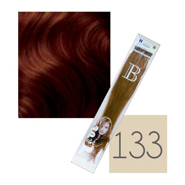 paquete de extensiones de queratina balmain de 10 No. 133 de 45 cm