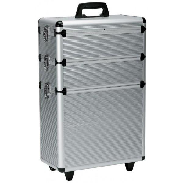 Valise aluminium sur 3 niveaux modulables