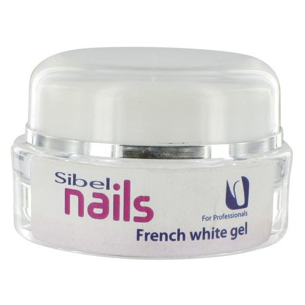 Ultravioleta del gel French White Sibel Nails 15 ML