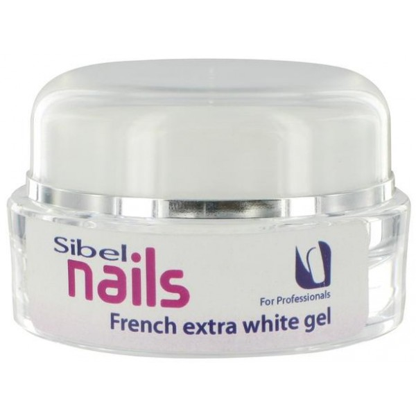 Uv French Extra-White Sibel Nails Gel 15 ML