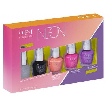 Mini Kit de 5 Vernis OPI Infinite Shine Collection Neon