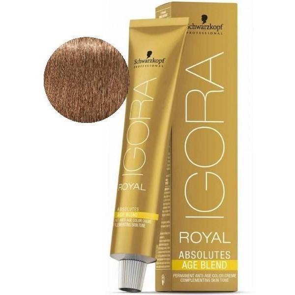 Igora Royal Absolutes Age Blend 8-07 Blond Clair Naturel Cuivré