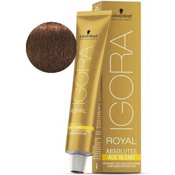 Igora Royal Absolutes Alter 6-460 Mischung Dunkelbeige Blond Braun