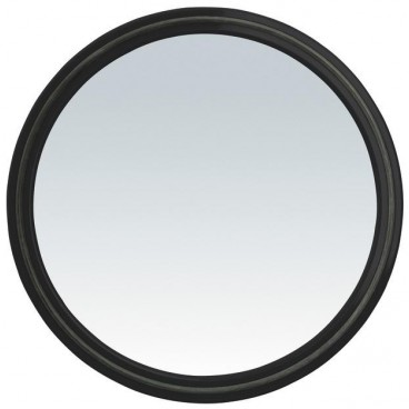 Image of Specchio tondo Magic Mirror con impugnatura - nero