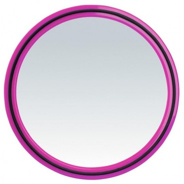 Image of Specchio tondo Magic Mirror con impugnatura - Rosa