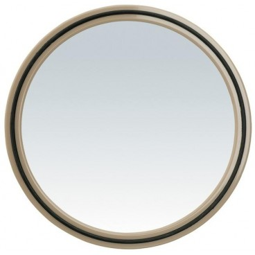 Image of Specchio tondo Magic Mirror con impugnatura - Cappuccino