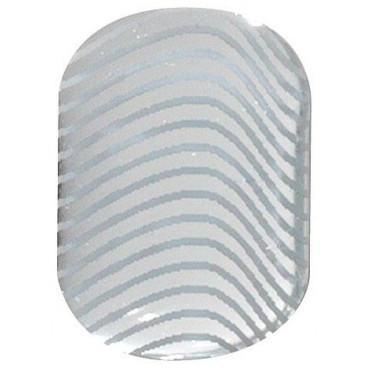 Gel stickers utimate nails silver waves Peggy Sage