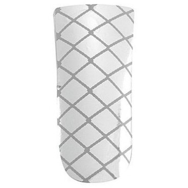 Décors adhésifs ultimate nails silver criss cross Peggy Sage