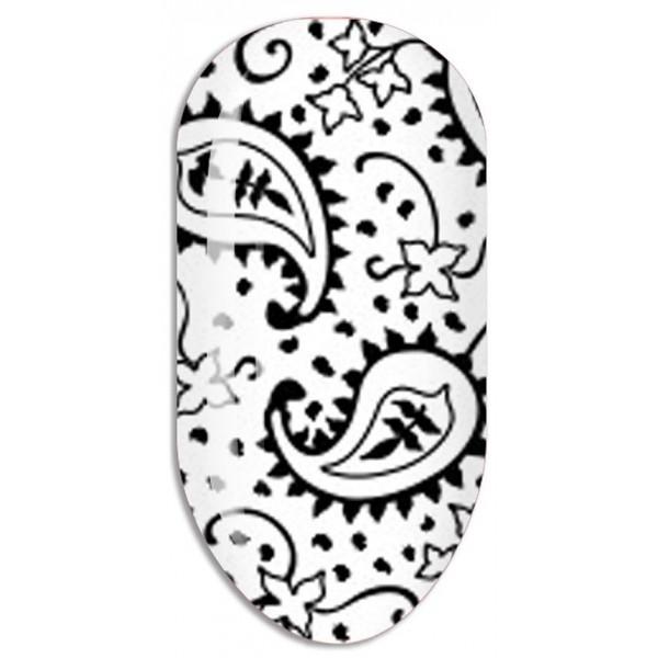 Stickers Nail ART Water Decals / Noir Mollon PRO - F090N