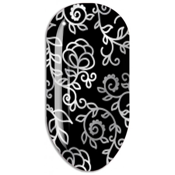 Stickers Nail ART Water Decals / Silver Decal Mollon PRO - F114A