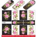Stickers Nail Art Decals Mollon PRO - J059