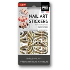 Stickers Nail Art Water Decals / Gold Mollon PRO - J096PO