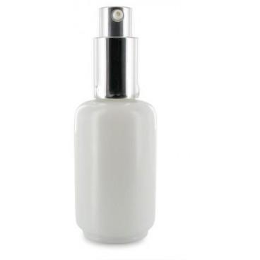 Flacon Pompe Verre Opaline Blanc 30ml - PBI
