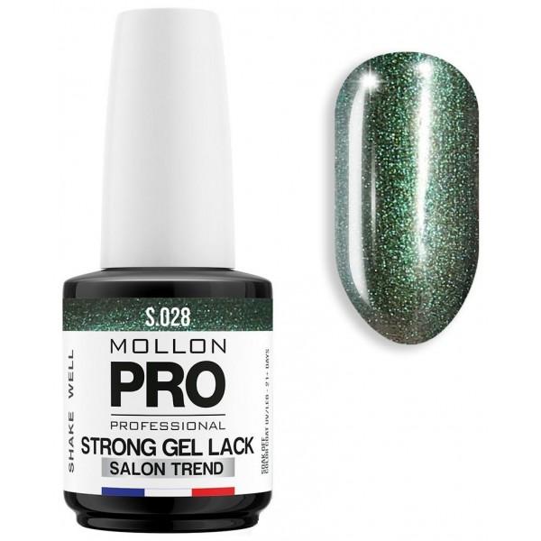 Varnish Permanent Soak Off Strong Gel Lack Malachite - 028
